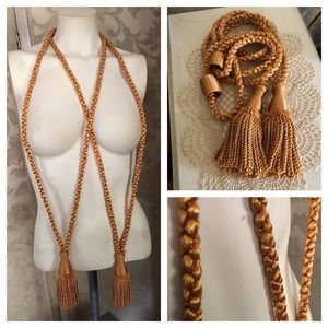 Vintage Gold Tassel Curtain Tie-Backs
